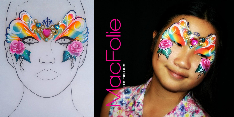 maquillage artistique de fantaisie
