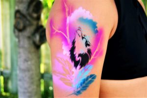 tatouage airbrush