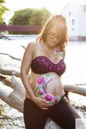 maquilleuse / Bedaine maternité